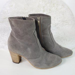 "Alberto Fermani Gray Suede ""Diva"" Ankle Booties"